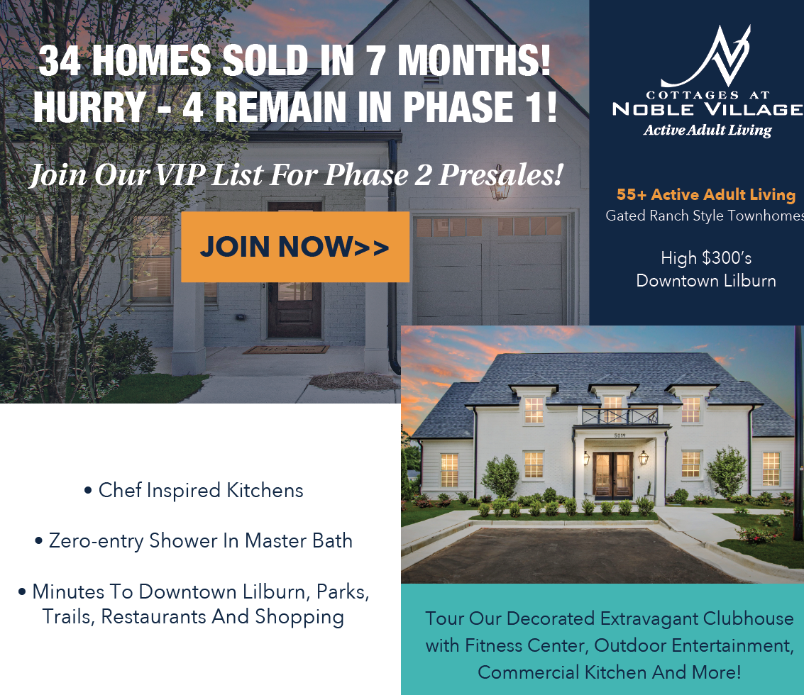 Just 4 Homes Remain at Cottages at Noble Village, Phase I